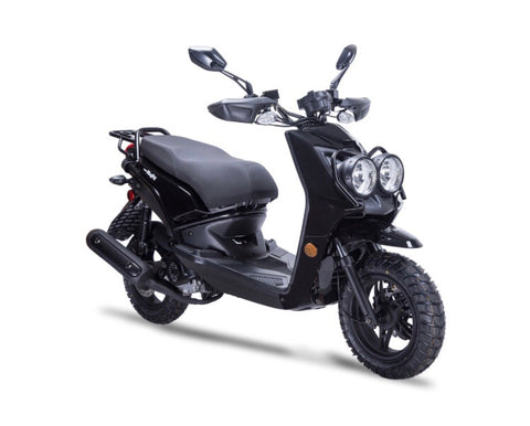 Wolf Rugby 50cc Scooter - Black