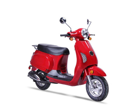 Wolf Lucky 50cc Scooter - Red