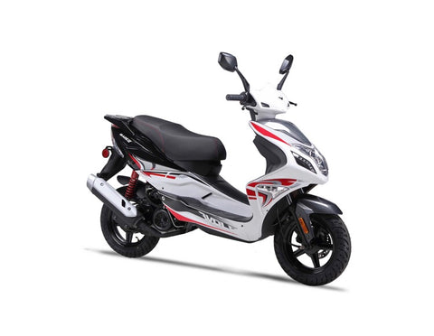 Wolf Blaze 50cc Scooter - White