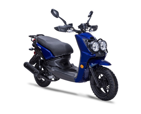 Wolf Rugby 50cc Scooter - Blue