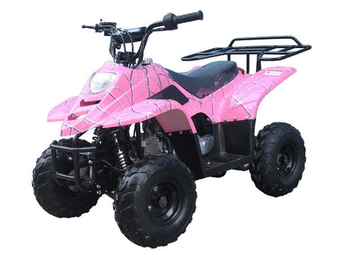 Tao Tao Boulder 110cc Youth ATV - Pink Spider