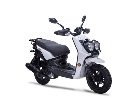 Wolf Rugby 50cc Scooter - White