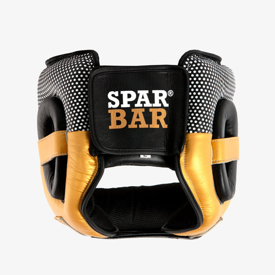 SPARBAR® SB1 BAR FACED SPARRING HEADGUARD - BLACK & GOLD
