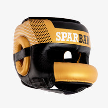 SPARBAR® SB1 BAR FACED SPARRING HEADGUARD - GOLD & BLACK