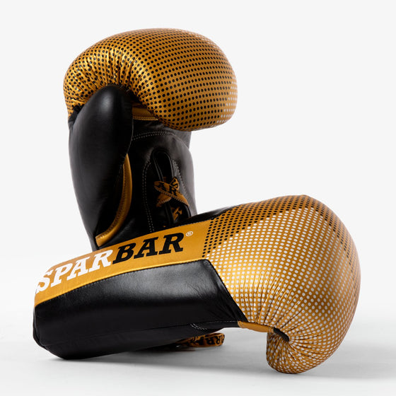 SPARBAR® SB1 LACED BOXING GLOVE - GOLD & BLACK