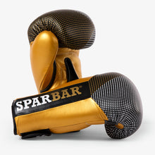 SPARBAR® SB1 VELCRO BOXING GLOVE - BLACK & GOLD