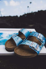 PIPELINE CUSTOM BIRKENSTOCKS  by MONIKA KUPIEC x Michael Grey