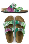 LEAFY GREENS CUSTOM BIRKENSTOCKS BY MICHAEL GREY X MARCELLA KRIEBEL