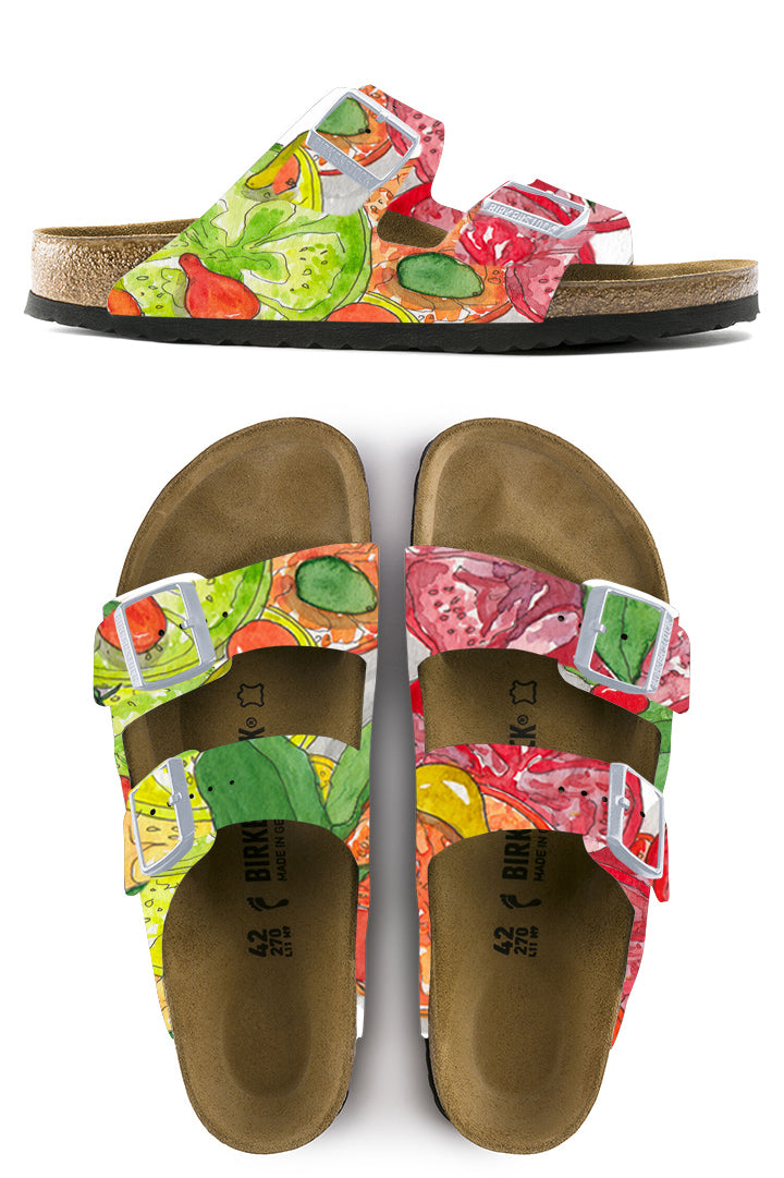 HEIRLOOM VEGGIES CUSTOM BIRKENSTOCKS BY MICHAEL GREY X MARCELLA KRIEBEL