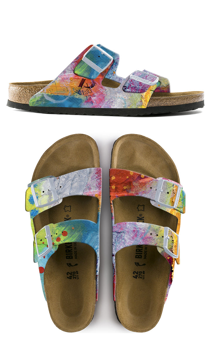 MAGIC LIVES HERE CUSTOM BIRKENSTOCKS  by CATHERINE RAINS x Michael Grey