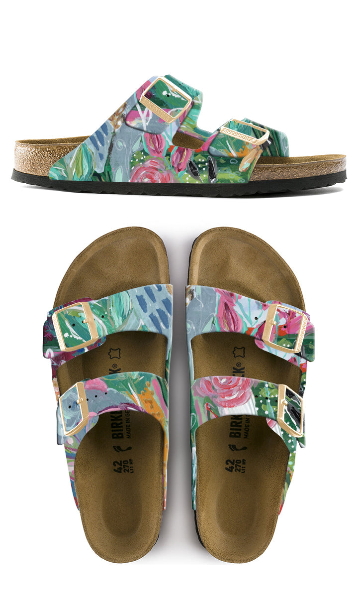 CRAZY PLANT LADY CUSTOM BIRKENSTOCKS by Deanna Hamsley x Michael Grey