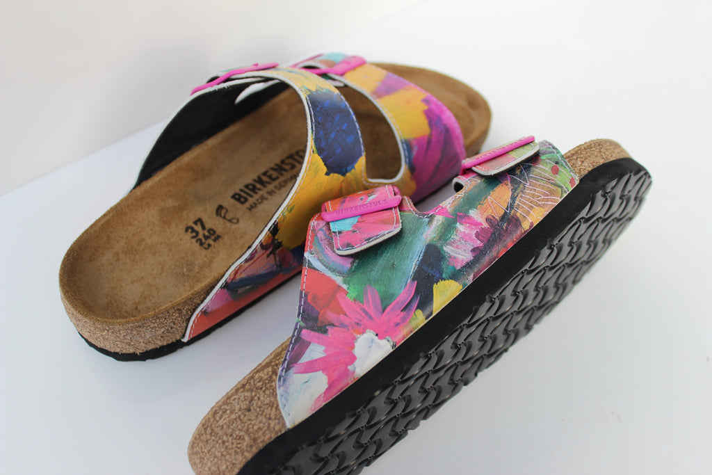 """BLOOMING RIGHT"" BIRKENSTOCKS  by WENDY MCWILLIAMS x Michael Grey"