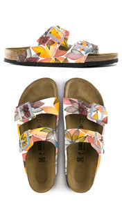 SUNSET FLORAL CUSTOM BIRKENSTOCKS  by Nurkhi Paints x Michael Grey