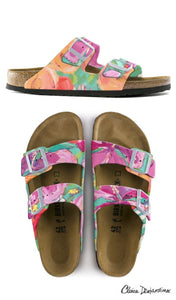 WHERE BUTTERFLIES AND BEES ARE  custom Birkenstock sandals by Claire Desjardins x Michael Grey -Pre-order