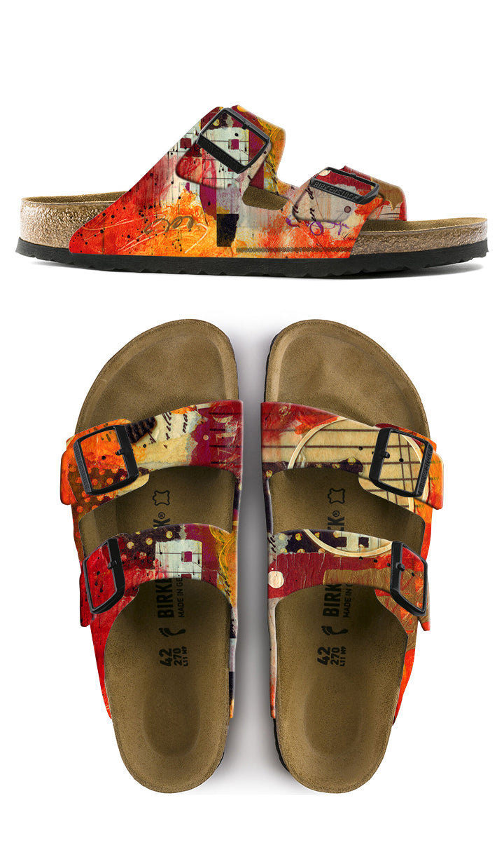 PROFOUND JOY CUSTOM BIRKENSTOCKS  by CATHERINE RAINS x Michael Grey