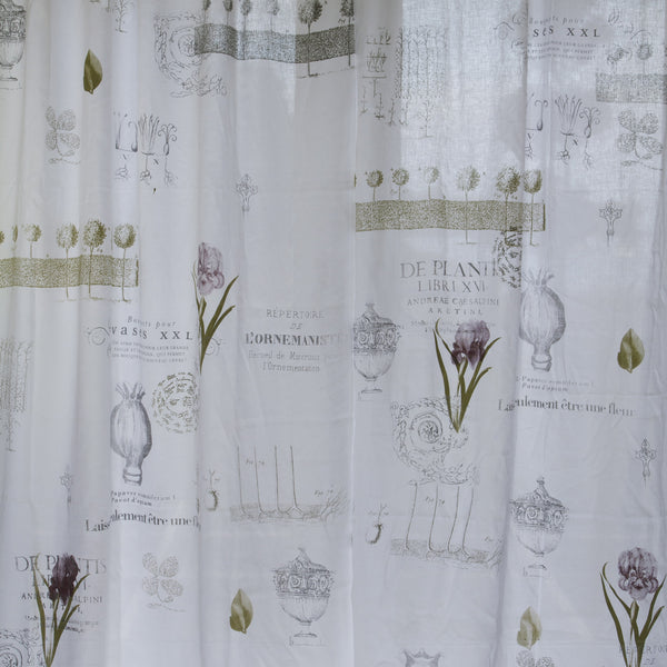 Botanical Linen Drop - Front Room Fabrics