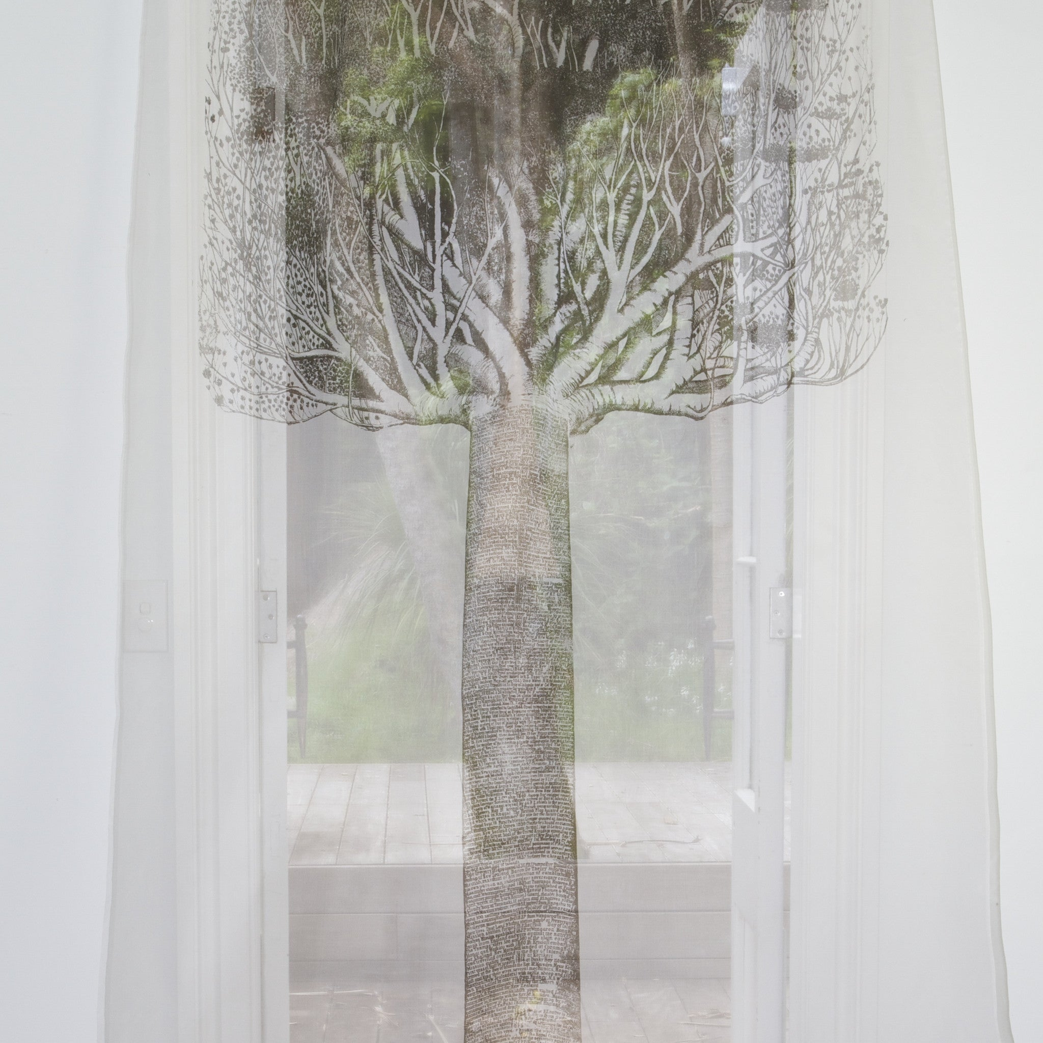 Chronological Tree Sheer Drop - Front Room Fabrics
