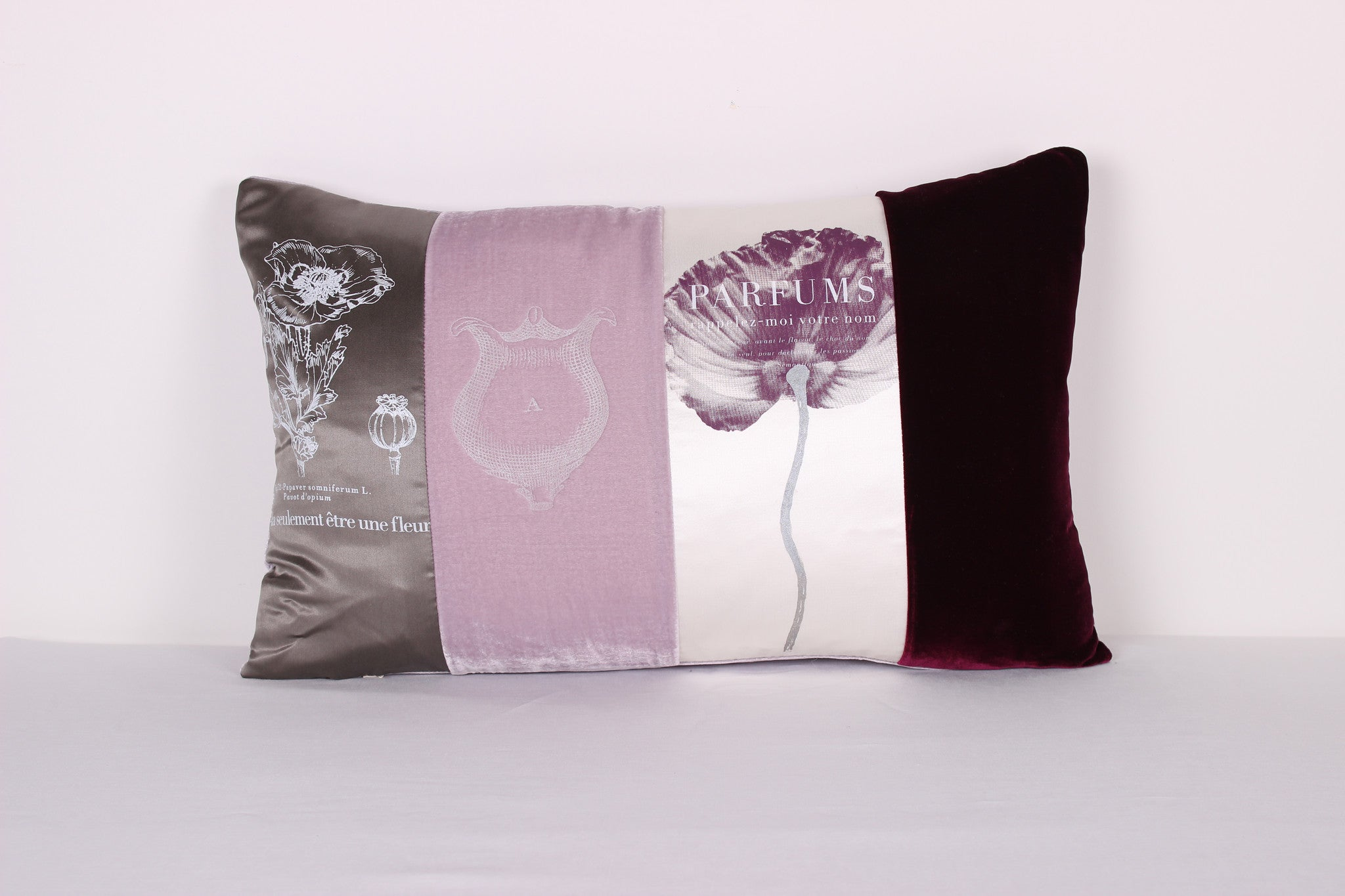 Dusty Pink Poppies Cushion - Front Room Fabrics