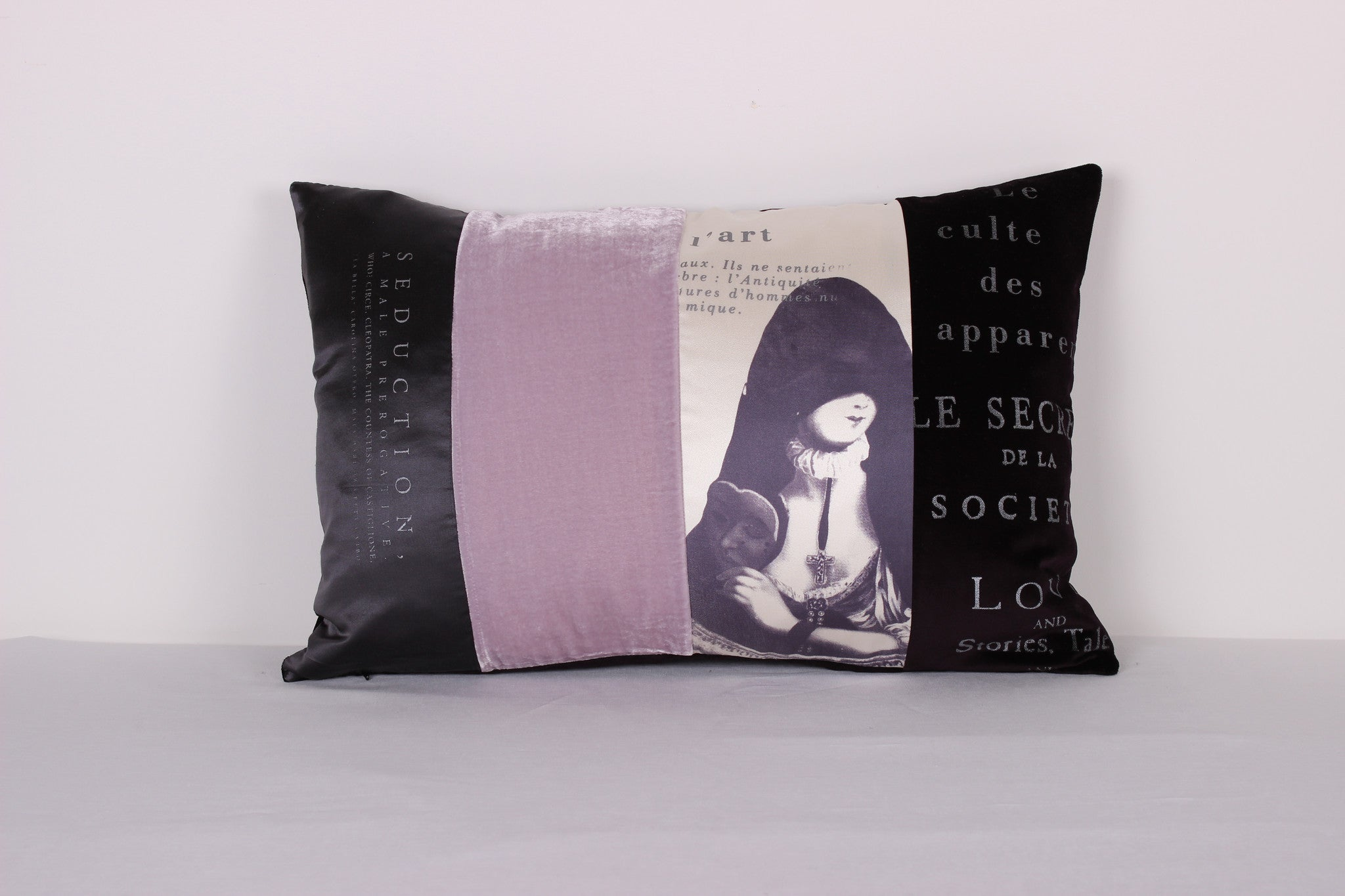 "Cloaked Lady Cushion ""Seduction"" - Front Room Fabrics"