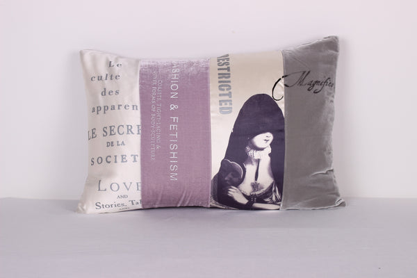 "Cloaked Lady Cushion ""Lilac"" - Front Room Fabrics"