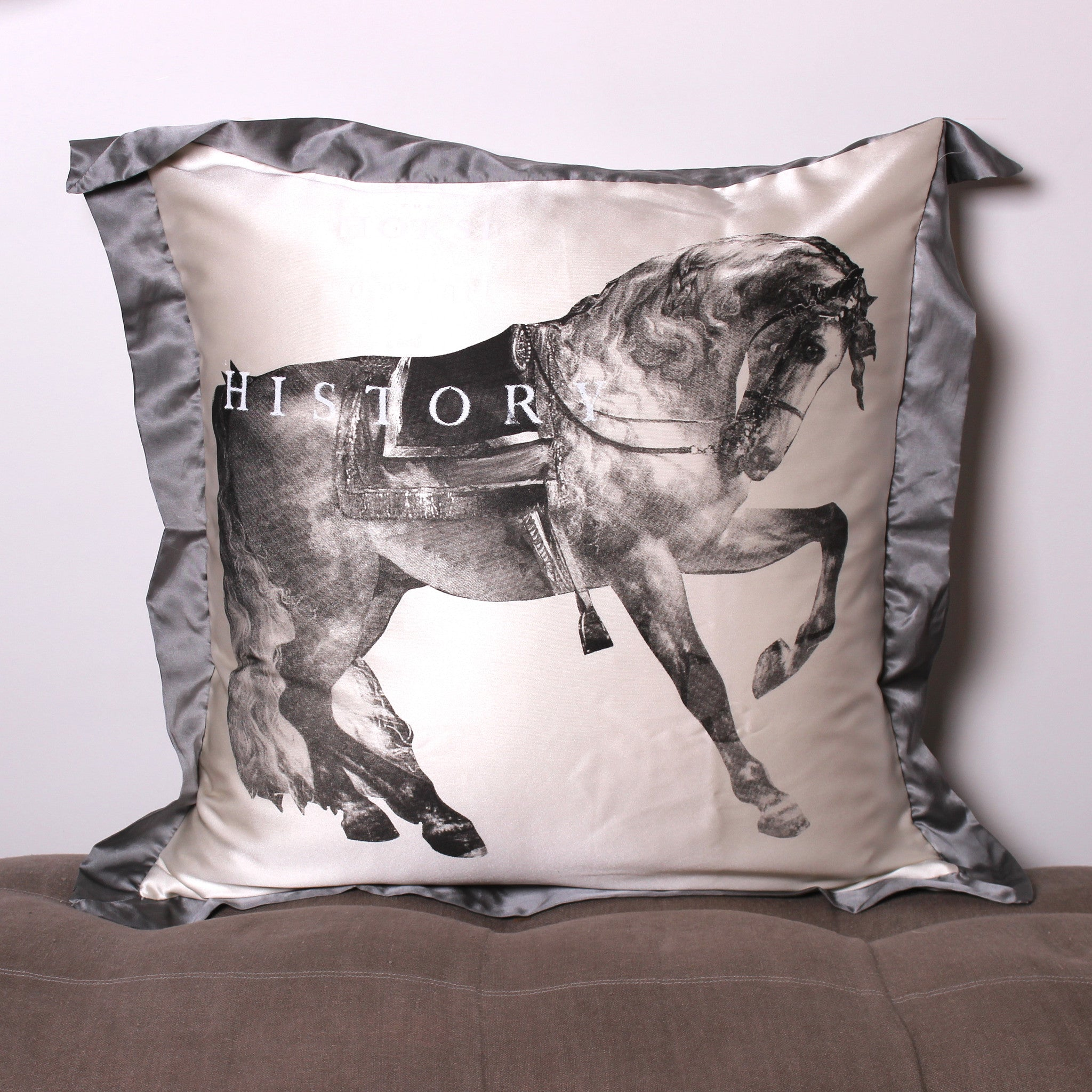 Equine 2  Euro Silk Pillowcase - Front Room Fabrics