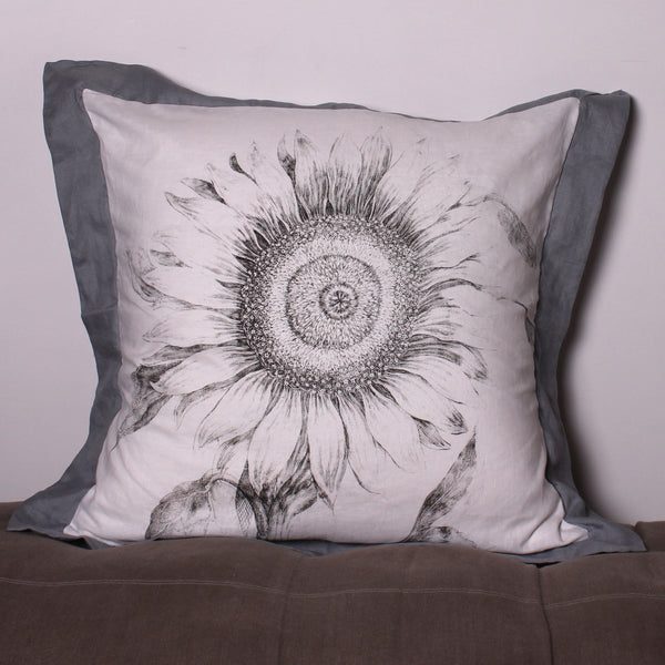 Sunflower Euro Linen Pillowslip - Front Room Fabrics