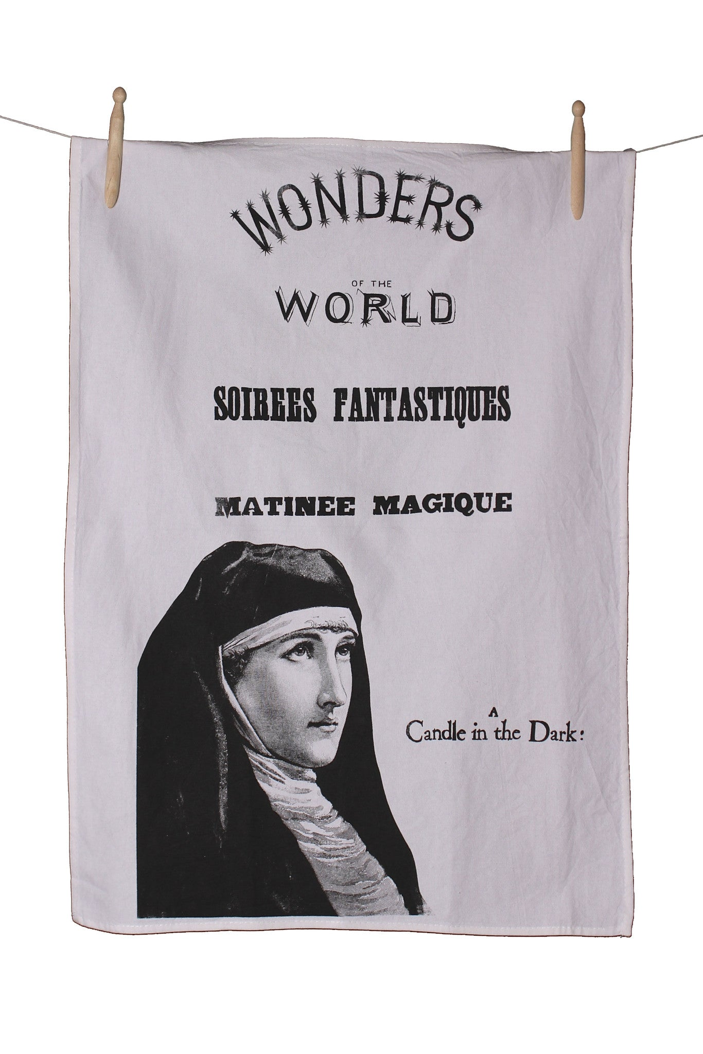 Wonder of the World Cotton Tea Towel - Front Room Fabrics