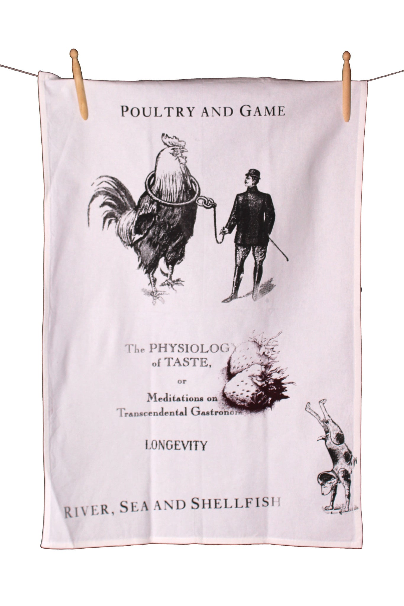Poultry and Game Cotton Tea Towel - Front Room Fabrics