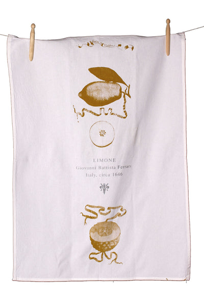 Limone Cotton Tea Towel - Front Room Fabrics