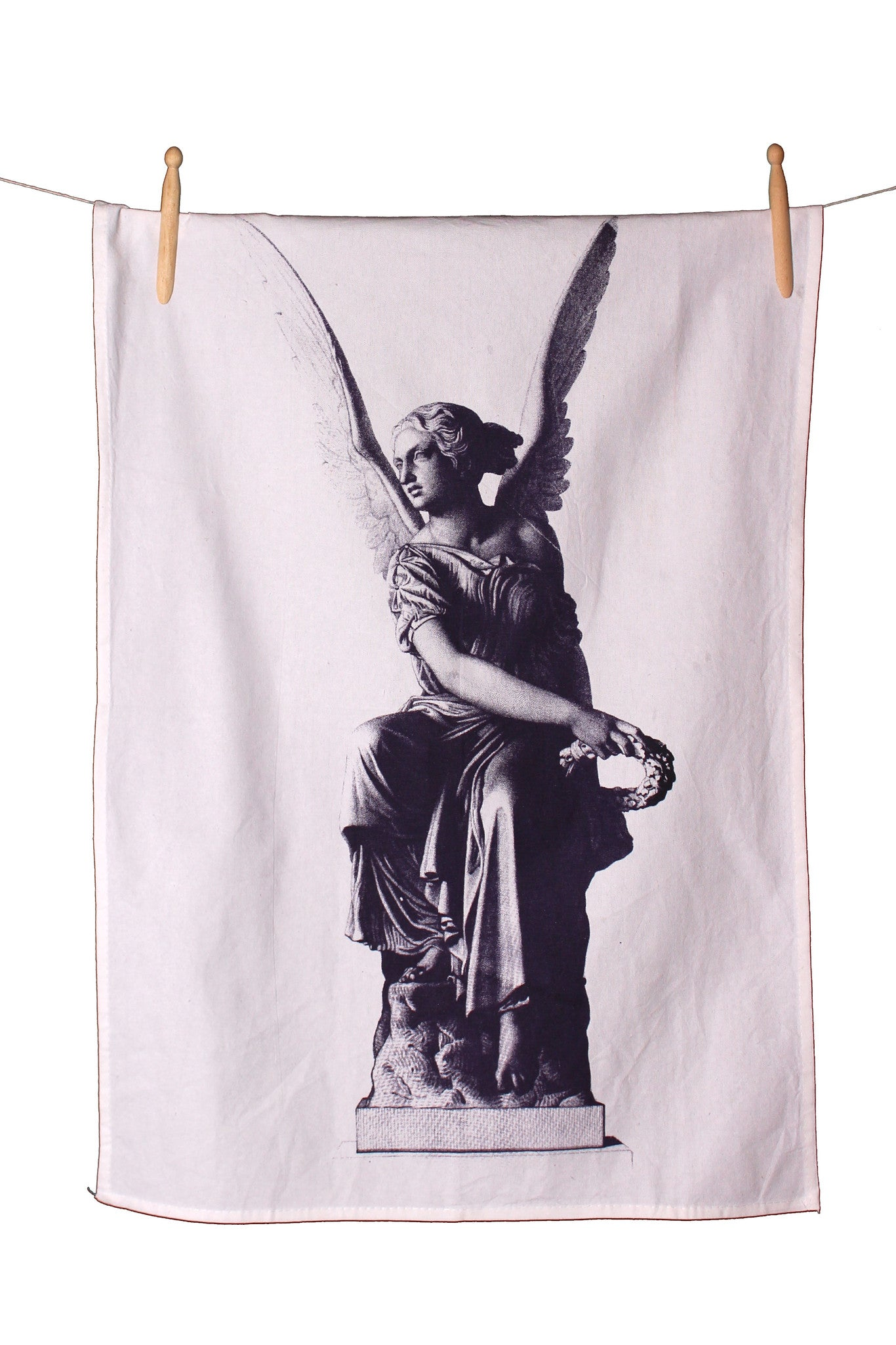 Angel Statuette Cotton Tea Towel - Front Room Fabrics
