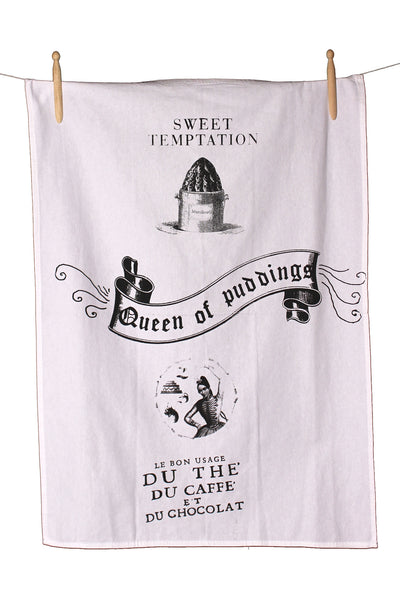 Queen of Puddings Cotton Tea Towel