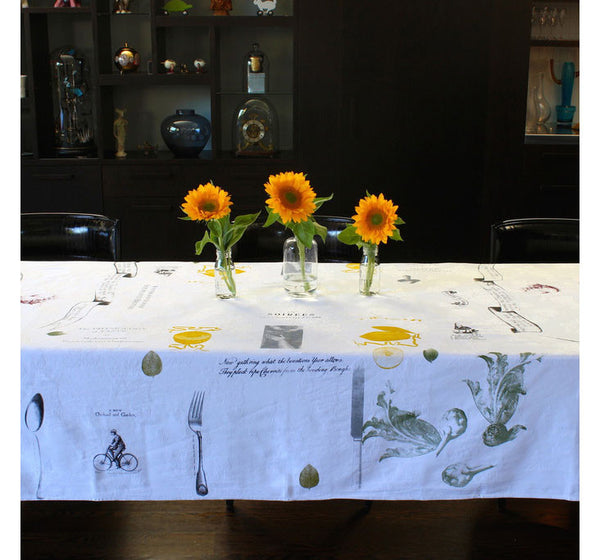 Foodies Delight Tablecloth - Front Room Fabrics
