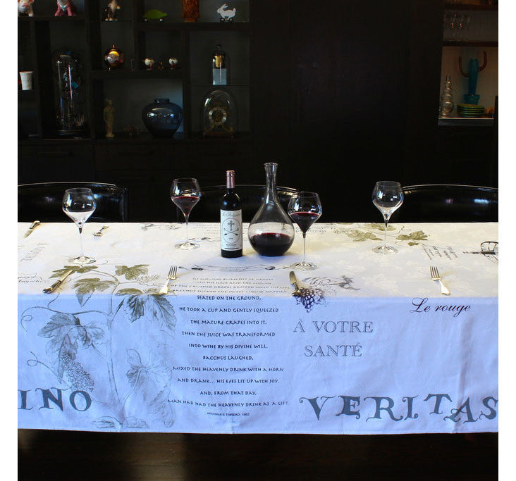 Wine Lovers Tablecloth