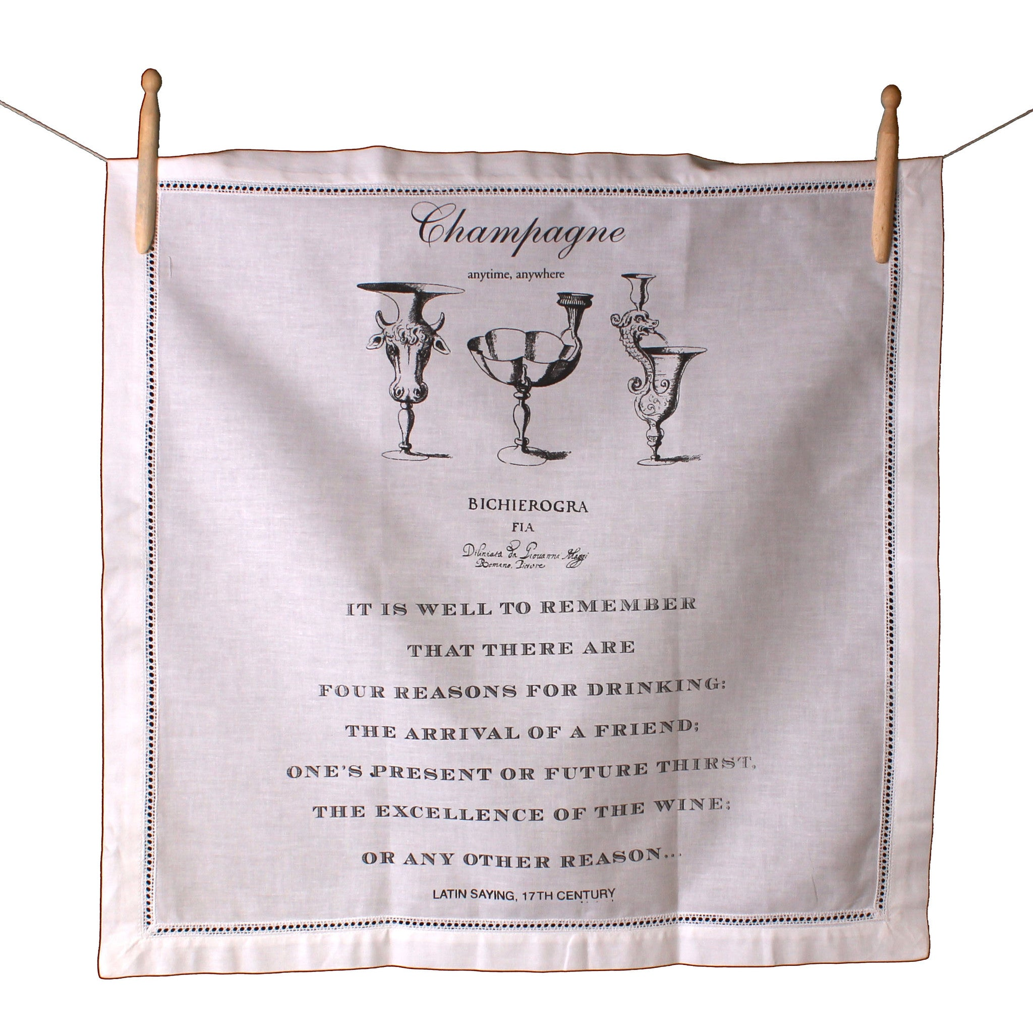 Champagne Anytime Anywhere Napkin
