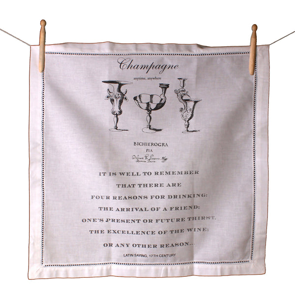 Champagne Anytime Anywhere Napkin - Front Room Fabrics
