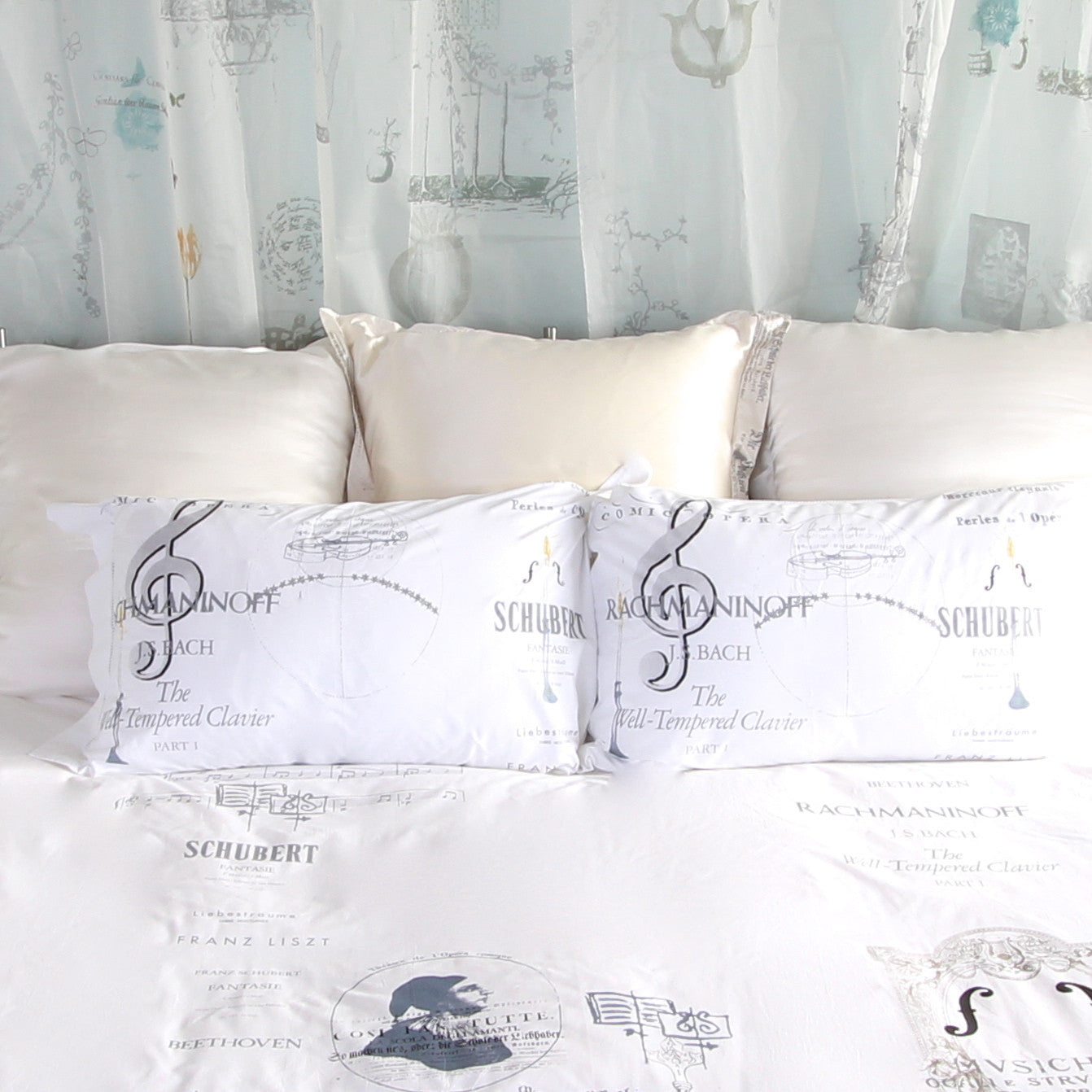 Musical Cotton Pillowslips - Front Room Fabrics