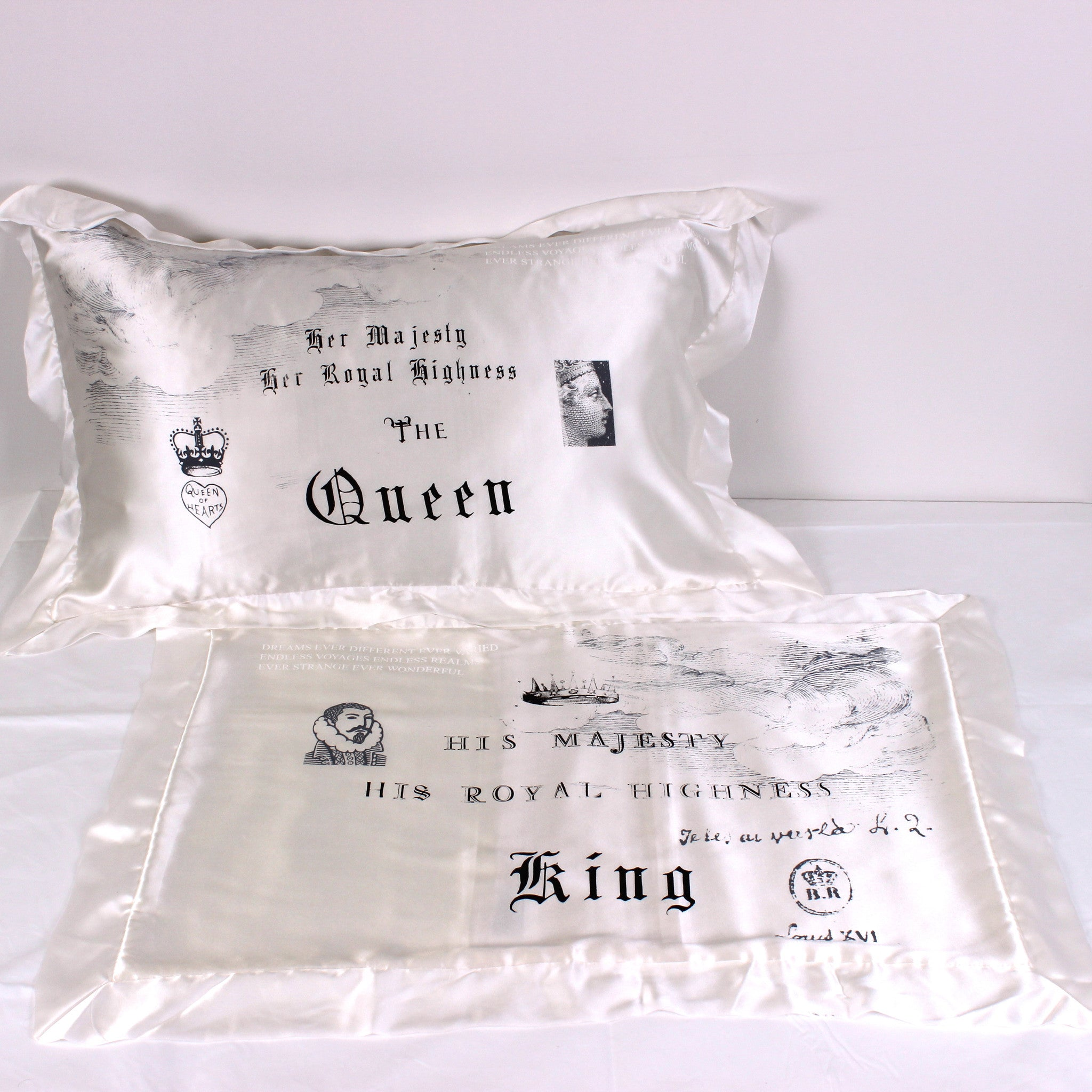 Royals Silk Pillowslip Pair - Front Room Fabrics