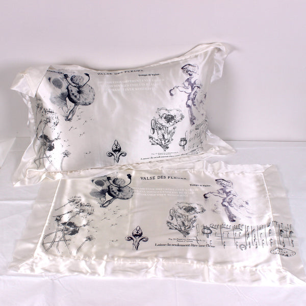 Valse des Fleurs Silk Pillowslip Pair - Front Room Fabrics