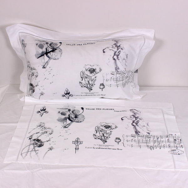 Flora Cotton Pillowslips - Pair - Front Room Fabrics