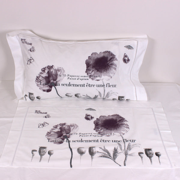 Pink Poppies Cotton Pillowslips