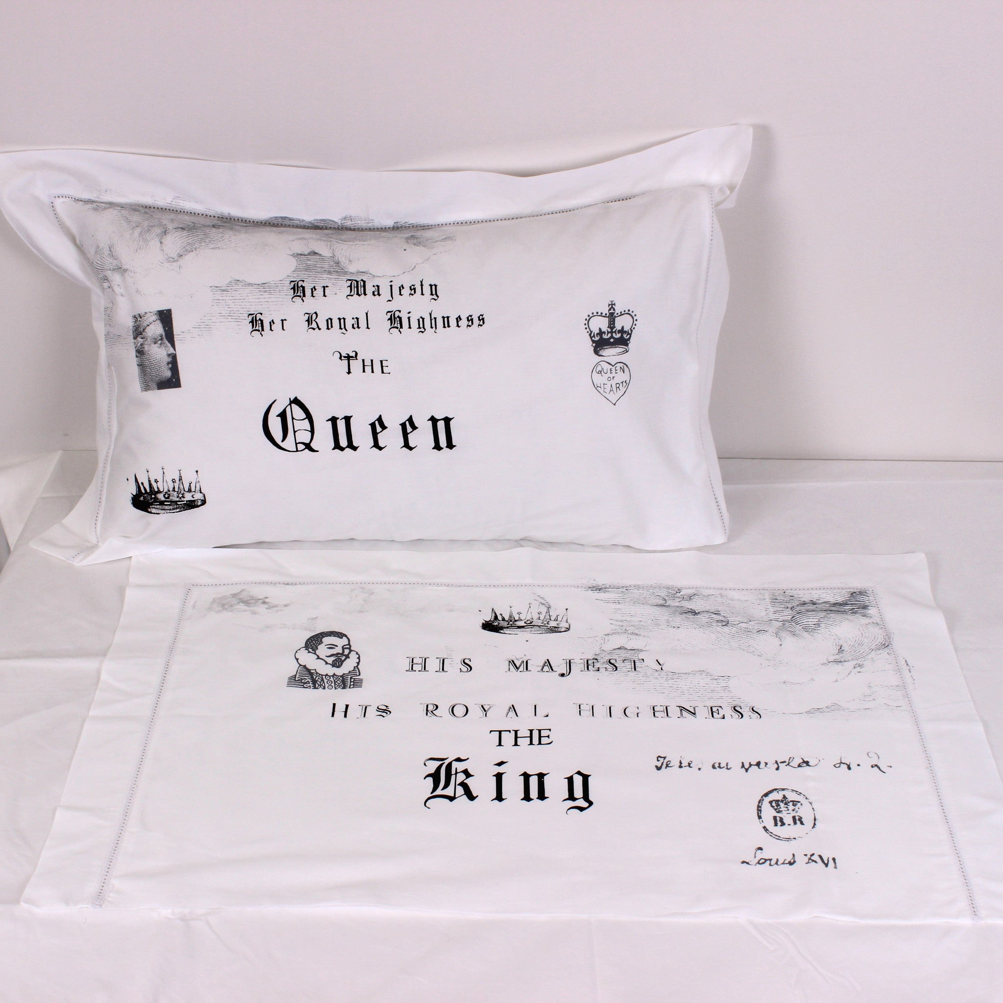 His & Her Royal Highness Cotton Pillowslips - Pair