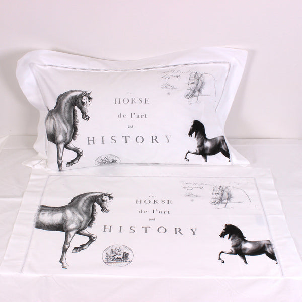 Equine Cotton Pillowcases - Pair - Front Room Fabrics