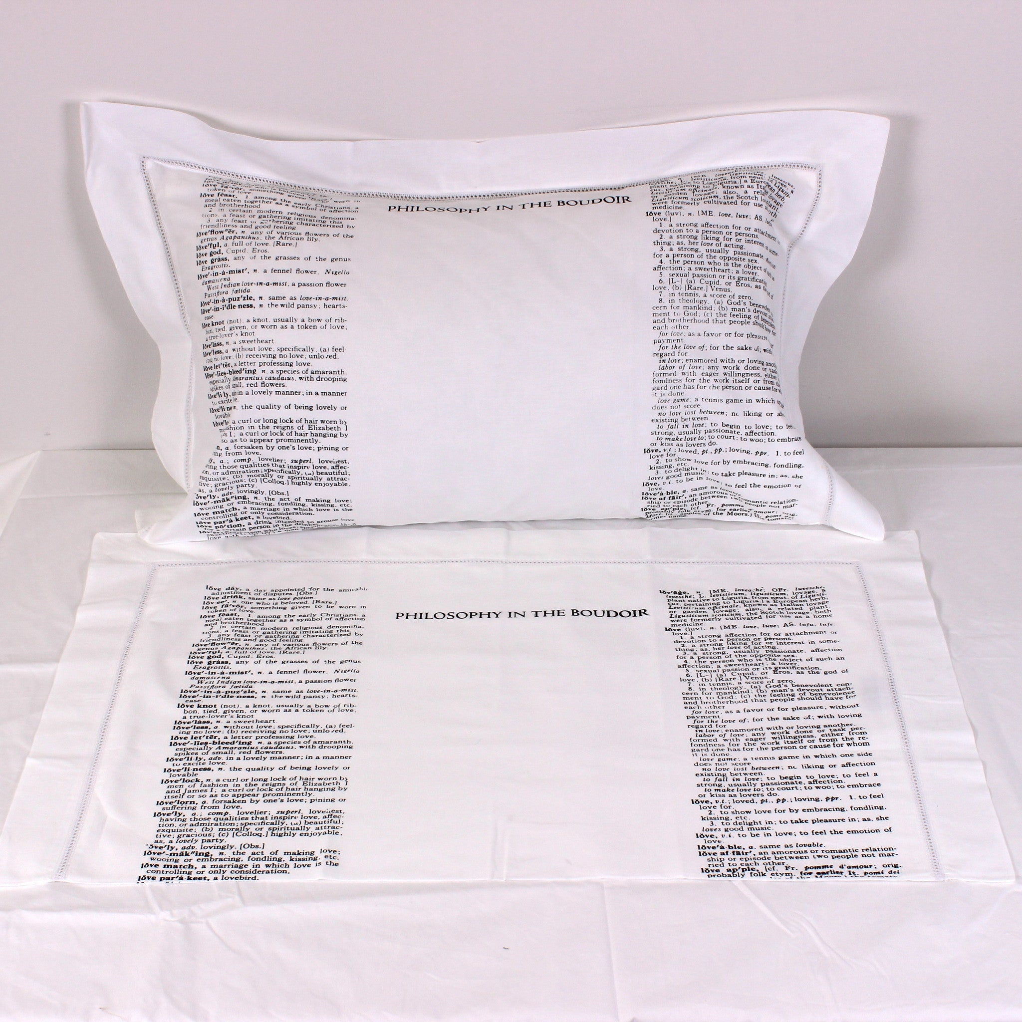 Definition of Love Cotton Pillowcases - Pair - Front Room Fabrics