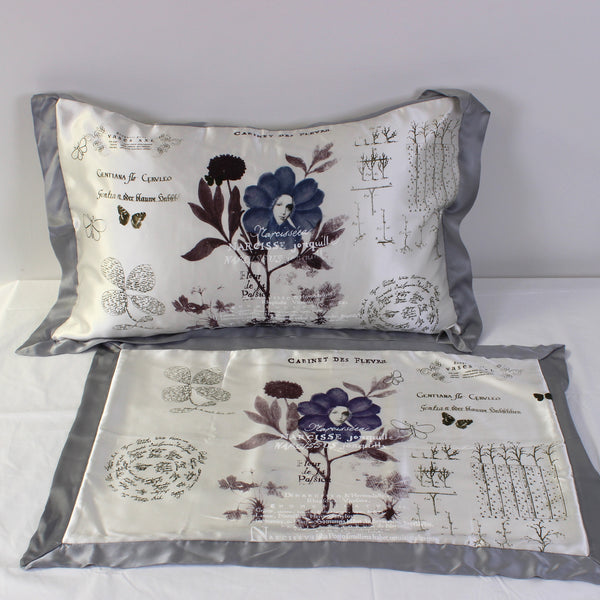 Flower Girl Silk Pillowcases - Pair - Front Room Fabrics