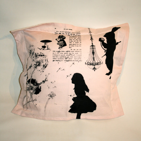 Alice in Wonderland Cot Pillow - Front Room Fabrics