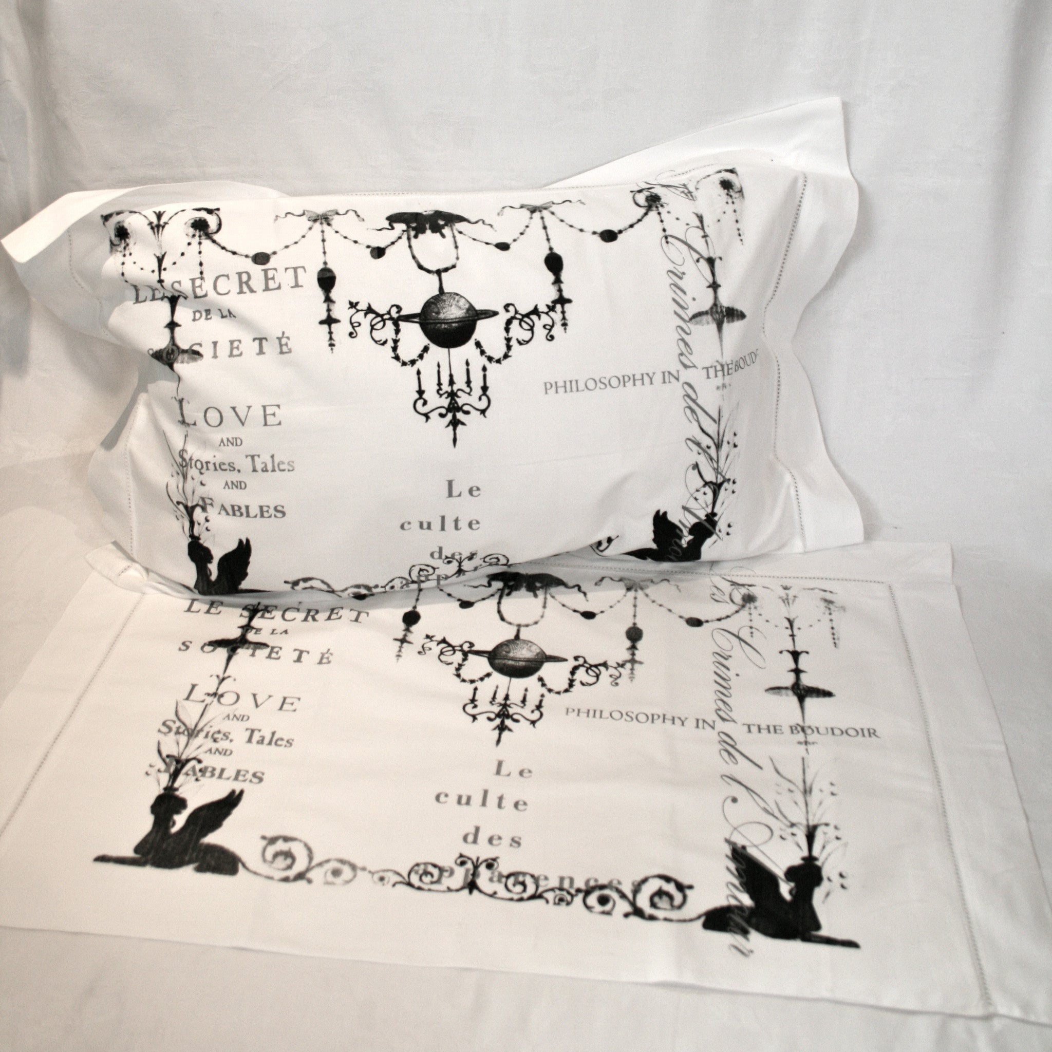 Chandelier Cotton Pillowcases - Pair - Front Room Fabrics