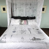 Philosophy of the Boudoir Duvet Cover - Front Room Fabrics