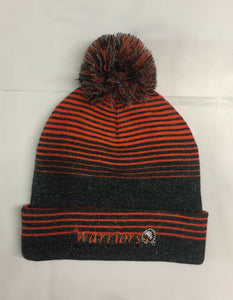 Holloway Grey Stripe Pom Beanie