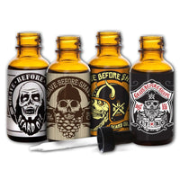 GRAVE BEFORE SHAVE Beard oil 4 Pack