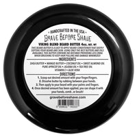 Grave Before Shave Beard Butter 4oz. Container